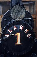 USA/Etats-Unis/Alaska/Juneau : Vieille locomotive à vapeur utilisée en 1893 à la mine de Kensington