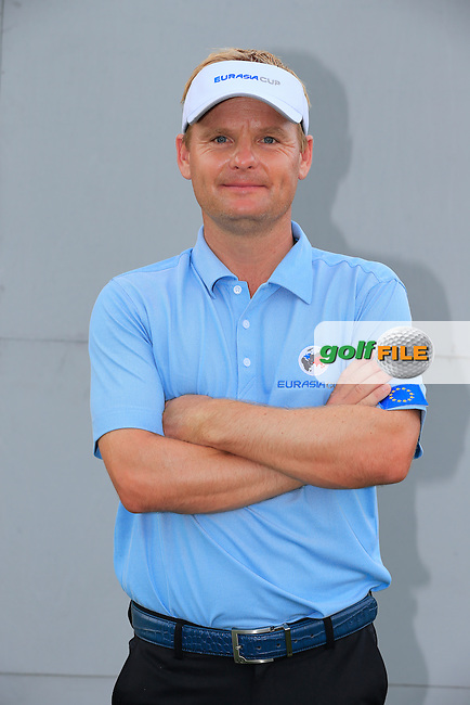Soren Kjeldsen (DEN) European Team before Pro-Am Day of the 2016 Eurasia Cup held at the Glenmarie Golf &amp; Country Club, Kuala Lumpur, Malaysia. 14th January 2016.<br /> Picture: Eoin Clarke | Golffile<br /> <br /> <br /> <br /> All photos usage must carry mandatory copyright credit (&copy; Golffile | Eoin Clarke)