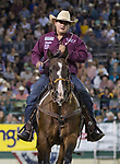 Reno Gonzales won the night's Tie Down Roping event during the Reno Rodeo on Sunday, June 23, 2019.
