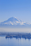Winter Smog over Commencement Bay and Mount Rainier