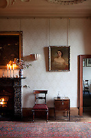 A Victorian portrait in the dining room