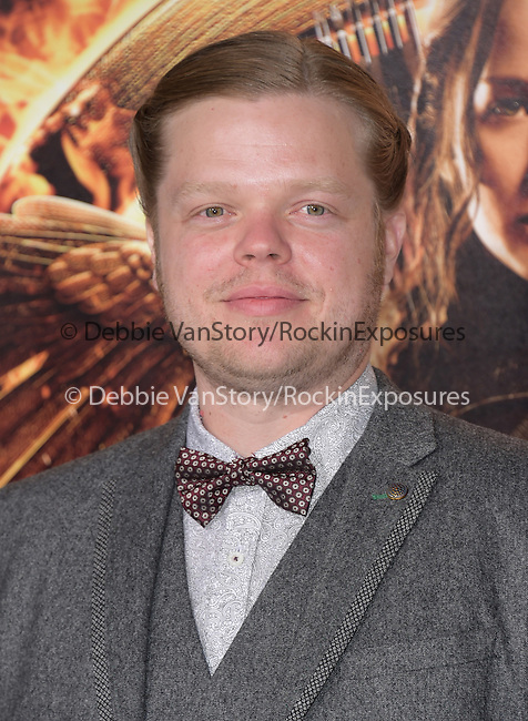 Elden Hanson at The  Los Angeles Premiere of The Hunger Games: Mockingjay - Part 1 held at  Nokia Theatre L.A. Live in Los Angeles, California on November 17,2014                                                                               © 2014 Hollywood Press Agency