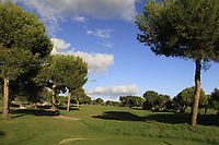 The 18th during the Pro-Am of the Challenge Tour Grand Final 2019 at Club de Golf Alcanada, Port d'Alcúdia, Mallorca, Spain on Wednesday 6th November 2019.<br /> Picture:  Thos Caffrey / Golffile<br /> <br /> All photo usage must carry mandatory copyright credit (© Golffile | Thos Caffrey)