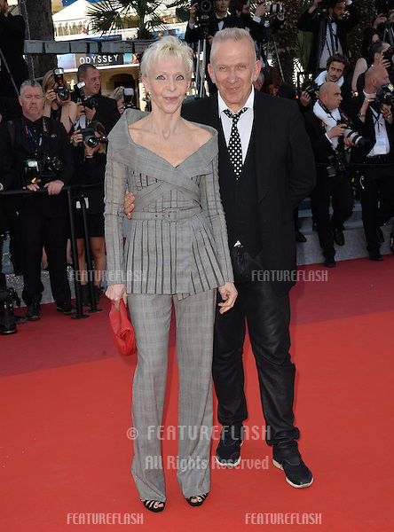 Designer Jean Paul Gaultier &amp; Tonie Marshall at the gala premiere of &quot;From the Land of the Moon&quot; (&quot;Mal de Pierres&quot;) at the 69th Festival de Cannes.<br /> May 15, 2016  Cannes, France<br /> Picture: Paul Smith / Featureflash