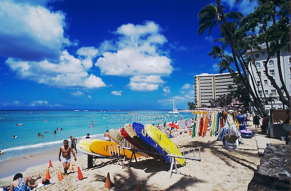 Waikiki Beach, Honolulu, Oahu, Hawaii, USA