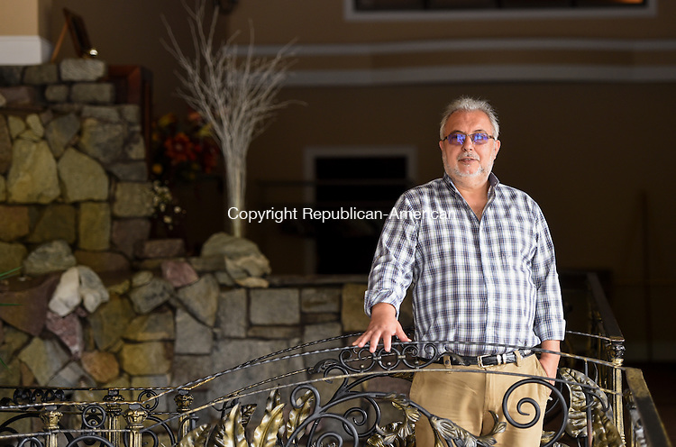 SEYMOUR, CT- 11 September 2015-091115EC06-  Tony Mavuli owns The Inn at Villa Bianca in Seymour. He's hosting an essay contest for someone to take over his banquet facility. The catch is, he's looking for 7,500 people to invest $1,000, along with the essay. Erin Covey Republican-American