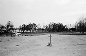 Long Beach, Mississippi.USA.July 30, 2006..A cross marks the grounds on the beach where a church used to stand before being hit by hurricane Katrina one year ago....