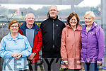 Pictured at Ballyheigue Pattern Day on Saturday last were l-r: Patricia Hartnett and Denis Hartnett (Tralee) with Pat Riordan (Glenbeigh) with Noreen Costello (Beaufort) and Margaret Riordan (Glenbeigh).