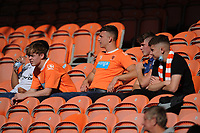 Blackpool fans watch their team in action <br /> <br /> Photographer Kevin Barnes/CameraSport<br /> <br /> The EFL Sky Bet League One - Blackpool v Swindon Town - Saturday 19th September 2020 - Bloomfield Road - Blackpool<br /> <br /> World Copyright © 2020 CameraSport. All rights reserved. 43 Linden Ave. Countesthorpe. Leicester. England. LE8 5PG - Tel: +44 (0) 116 277 4147 - admin@camerasport.com - www.camerasport.com