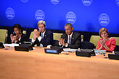 """(L-R)  Susan Rice, United States Ambassador to the United Nations, John Kerry, U.S. Secretary of State, U.S. President Barack Obama and Samantha Power, United States Ambassador to the United Nations, attend the """"Leader's Summit on Countering ISIL and Countering Violent Extremism"""" at the United Nations Headquarters, New York, New York on September 29, 2015.  <br /> Credit: Anthony Behar / Pool via CNP"""