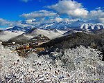 Winter view of Gatlinburg, Tennessee, and the Great Smoky Mountains. Smoky Mountain photos by Gordon and Jan Brugman.