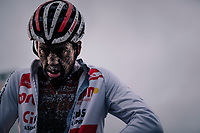 Tom Meeusen's post-race face (BEL/Corendon-Circus)<br /> <br /> Superprestige cyclocross Hoogstraten 2019 (BEL)<br /> Elite Men's Race<br /> <br /> &copy;kramon