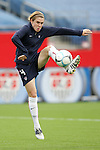 14 April 2007: United States forward Heather O'Reilly, pregame. The United States Women's National Team defeated the Women's National Team of Mexico 5-0 at Gillette Stadium in Foxboro, Massachusetts in an international friendly game.
