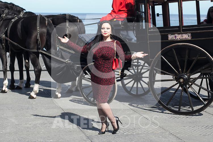 Alaska poses during `Hotel Transilvania´ film presentation at 63rd Donostia Zinemaldia (San Sebastian International Film Festival) in San Sebastian, Spain. September 25, 2015. (ALTERPHOTOS/Victor Blanco)
