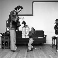 Noel vers 1968<br /> <br /> PHOTO : Alain Renaud - Agence Quebec presse