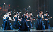"""12/05/2015. London, England. Rambert Dance Company perform the World Premiere of """"Dark Arteries"""" by Mark Baldwin as part of a triple bill at Sadler's Wells Theatre. Rambert perform with the Tredegar Town Band and the Rambert Orchestra from 12 to 16 May 2015."""