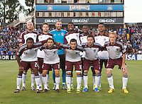 Santa Clara, California - Saturday August 25th, 2012: Colorado Rapids' starting 11 before start of a game against San Jose Earthquakes at Buck Shaw Stadium, Stanford, Ca    San Jose Earthquakes defeated Colorado Rapids 4 - 1