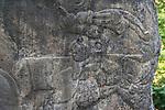 The Bearded Man, Stela 3, from the Olmec ruins of La Venta. Preclassic Period (700-400 B.C.).  La Venta Museum, Villahermosa, Mexico.