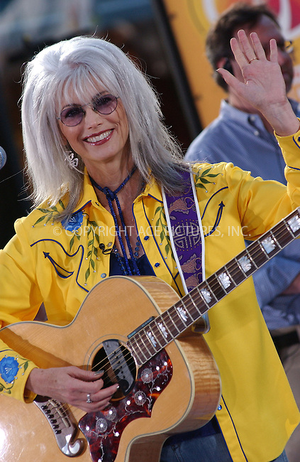 WWW.ACEPIXS.COM . . . . . ....NEW YORK, JULY 22,  2005 ....Emmylou Harris performing live on the NBC Today Show at Rockefeller Center.....Please byline: KRISTIN CALLAHAN - ACE PICTURES.. . . . . . ..Ace Pictures, Inc:  ..Craig Ashby (212) 243-8787..e-mail: picturedesk@acepixs.com..web: http://www.acepixs.com