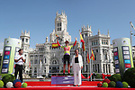 Lucinda Brand (NED) Team Sunweb on the podium at the end of Stage 2 of the Ceratizit Madrid Challenge by La Vuelta 2019 running 98.6km around Madrid, Spain. 15th September 2019.<br /> Picture: Luis Angel Gomez/Photogomezsport | Cyclefile<br /> <br /> All photos usage must carry mandatory copyright credit (© Cyclefile | Luis Angel Gomez/Photogomezsport)