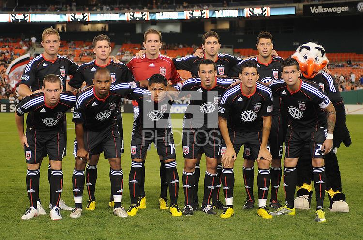 DC United starting elven.  The Houston Dynamo defeated DC United 3-1, at RFK Stadium, Saturday September 25, 2010.