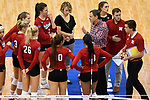 KANSAS CITY, MO - DECEMBER 16: University of Nebraska head coach John Cook speaks with players during the Division I Women's Volleyball Championship held at Sprint Center on December 16, 2017 in Kansas City, Missouri. (Photo by Jamie Schwaberow/NCAA Photos via Getty Images)