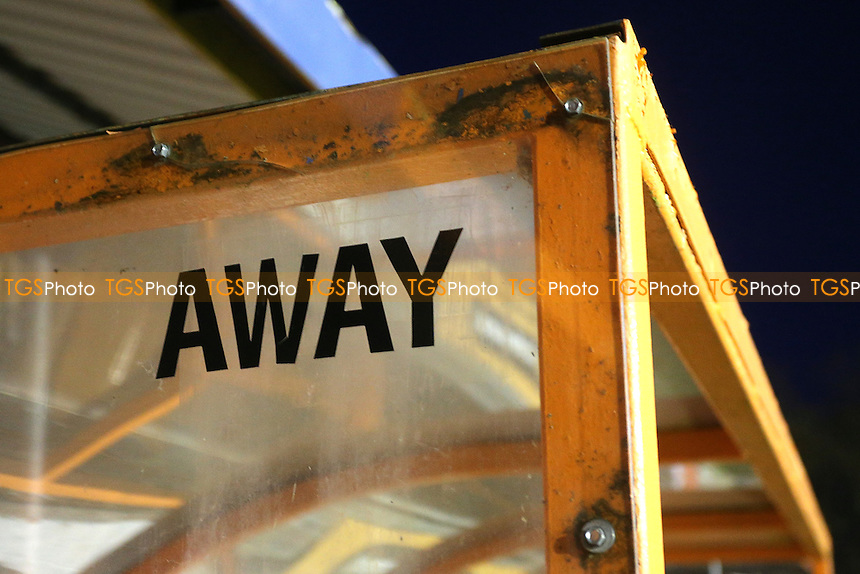 The away dugout ahead of Braintree Town vs Lincoln City, Vanarama National League Football at the IronmongeryDirect Stadium on 7th March 2017