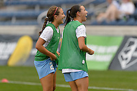 Chicago, IL - Wednesday Sept. 07, 2016: Danielle Colaprico, Vanessa DiBernardo prior to a regular season National Women's Soccer League (NWSL) match between the Chicago Red Stars and FC Kansas City at Toyota Park.