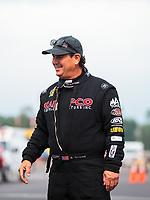 Aug 19, 2018; Brainerd, MN, USA; NHRA top fuel driver Billy Torrence during the Lucas Oil Nationals at Brainerd International Raceway. Mandatory Credit: Mark J. Rebilas-USA TODAY Sports