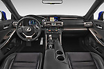 Stock photo of straight dashboard view of a 2015 Lexus IS F SPORT LINE 4 Door Sedan Dashboard