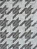 Houndstooth, a handmade mosaic shown in Jasper and Alabaster jewel glass.