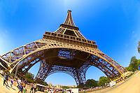Paris - France -Eifel Tower - wide angle photo