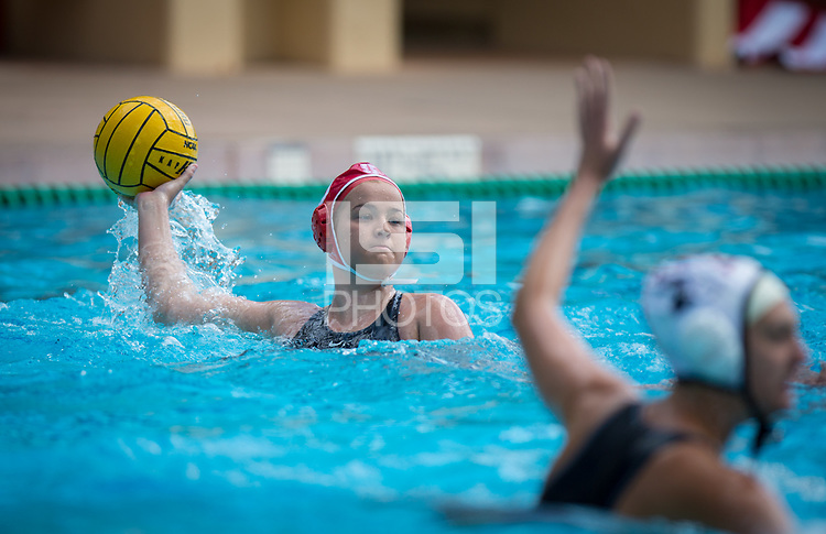 STANFORD, CA - March 23, 2019: Ryann Neushul at Avery Aquatic Center. The #2 Stanford Cardinal took down the #18 Harvard Crimson 20-7.