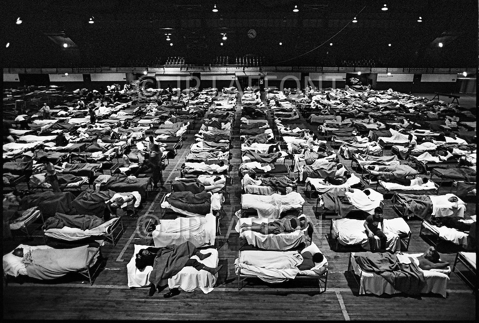 Manhattan, New York City, NY. 1986.<br /> Fort Washington shelter for the homeless.
