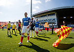 Kenny Miller leads out the Rangers team