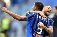 Luis Muriel of Atalanta BC (L) celebrates after scoring the goal of 0-2 with Alejandro Papu Gomez <br /> Roma 19-10-2019 Stadio Olimpico <br /> Football Serie A 2019/2020 <br /> SS Lazio - Atalanta<br /> Foto Andrea Staccioli / Insidefoto
