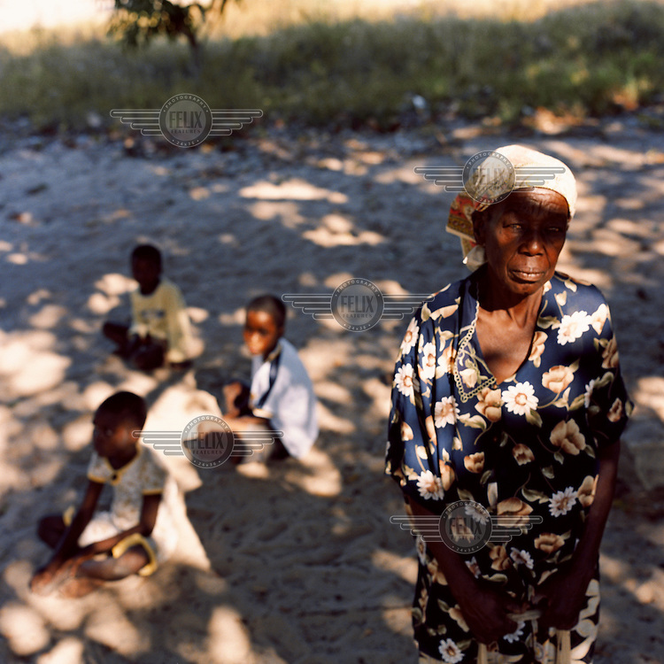 65 year old Beatrice now takes care of her three grandchildren since the death of her daughter and husband-in-law from AIDS..