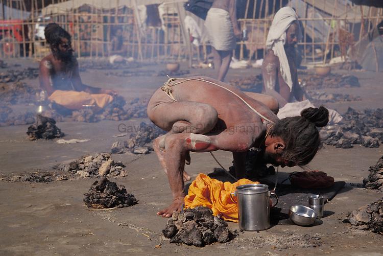 Naga Sadu at Kumbha Mela (The holy bath in the Ganges River)