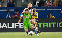 Carson, CA - Saturday July 29, 2017: Nicolas Lodeiro, Jelle Van Damme during a Major League Soccer (MLS) game between the Los Angeles Galaxy and the Seattle Sounders FC at StubHub Center.