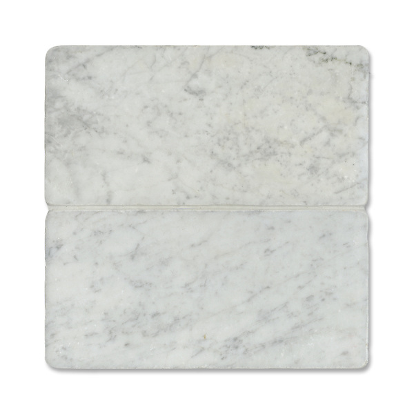 "Giovanni Barbieri 6"" x 12"" Bianco Carrara available in Timeworn finish."