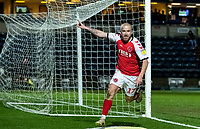 Fleetwood Town's Paddy Madden (left) celebrates scoring his side's first goal <br /> <br /> Photographer Andrew Kearns/CameraSport<br /> <br /> The EFL Sky Bet League One - Wycombe Wanderers v Fleetwood Town - Tuesday 11th February 2020 - Adams Park - Wycombe<br /> <br /> World Copyright © 2020 CameraSport. All rights reserved. 43 Linden Ave. Countesthorpe. Leicester. England. LE8 5PG - Tel: +44 (0) 116 277 4147 - admin@camerasport.com - www.camerasport.com