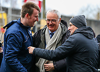 Fulham manager Claudio Ranieri is greeted by Burnley fans outside Turf Moor<br /> <br /> Photographer Alex Dodd/CameraSport<br /> <br /> The Premier League - Burnley v Fulham - Saturday 12th January 2019 - Turf Moor - Burnley<br /> <br /> World Copyright © 2019 CameraSport. All rights reserved. 43 Linden Ave. Countesthorpe. Leicester. England. LE8 5PG - Tel: +44 (0) 116 277 4147 - admin@camerasport.com - www.camerasport.com
