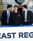 Samson Lee, Chris Malloy (BC - Student Manager), Tom Maguire - The Boston College Eagles defeated the Yale University Bulldogs 9-7 in the Northeast Regional final on Sunday, March 28, 2010, at the DCU Center in Worcester, Massachusetts.