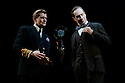 "London, UK. 26/03/2012. ""The King's Speech"" opens at the Wyndhams Theatre, London. Picture shows: Jonathan Hyde (as Lionel Logue) and Charles Edwards (as King George VI).  Photo credit: Jane Hobson"