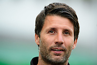 Lincoln City manager Danny Cowley during the pre-match warm-up<br /> <br /> Photographer Chris Vaughan/CameraSport<br /> <br /> The EFL Checkatrade Trophy Group H - Lincoln City v Mansfield Town - Tuesday September 4th 2018 - Sincil Bank - Lincoln<br />  <br /> World Copyright © 2018 CameraSport. All rights reserved. 43 Linden Ave. Countesthorpe. Leicester. England. LE8 5PG - Tel: +44 (0) 116 277 4147 - admin@camerasport.com - www.camerasport.com