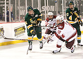 Michael Paliotta (Vermont - 15), Troy Power (UMass - 20), Eric Filiou (UMass - 10), Anders Franzon (Vermont - 27) - The University of Massachusetts (Amherst) Minutemen defeated the University of Vermont Catamounts 3-2 in overtime on Saturday, January 7, 2012, at Fenway Park in Boston, Massachusetts.