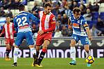 League Santander 2017-2018 - Game: 15.<br /> RCD Espanyol vs Girona FC: 0-1.<br /> Hermoso, Stuani &amp; Victor Sanchez.