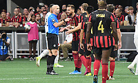 ATLANTA, Georgia - August 27: Red Card for Leandro González Pirez #5 during the 2019 U.S. Open Cup Final between Atlanta United and Minnesota United at Mercedes-Benz Stadium on August 27, 2019 in Atlanta, Georgia.
