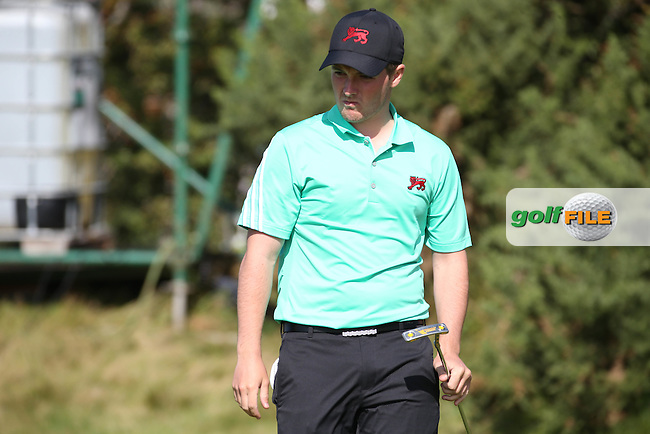 Jack Hume (IRL) goes close on the 14th during Sunday morning Foursome matches of The Walker Cup 2015 played at Royal Lytham and St Anne's, Lytham St Anne's, Lancashire, England. 13/09/2015. Picture: Golffile | David Lloyd<br /> <br /> All photos usage must carry mandatory copyright credit (&copy; Golffile | David Lloyd)