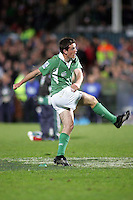 Ireland's Scott Deasy concerts this penalty goal during the Division A clash in the U19 World Championship at Ravenhill.